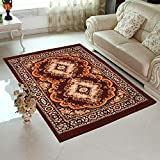 HOME ELITE Traditional Design Washable Anti-Allergic Premium Carpet, RG-CRT-302, Multicolor