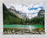 Ambesonne Landscape Tapestry, Canada Ohara Lake Yoho National Park...
