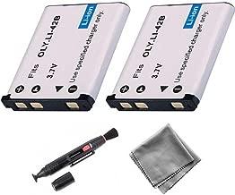 UltraPro 2-Pack LI-42B / LI-40B / LI-40C High-Capacity Replacement Battery for Olympus FE-220 FE-230 FE-240 FE-250 FE-280 - UltraPro BONUS INCLUDED: Deluxe MicroFiber Cleaning Cloth, Lens Cleaning Pen