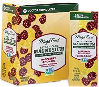 MEGAFOOD Raspberry Lemonade Magnesium Powder, 0.14 OZ