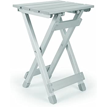 Camco 51890 Aluminum Fold-Away Side Table - Small