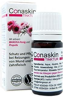 Linderung bei Beschwerden durch APHTHEN, HERPES & Zahnfleischentzündungen | Conaskin Tinktur mit aktivem MANUKA Honig & Propolis | 5 ml | OHNE CHEMIE |