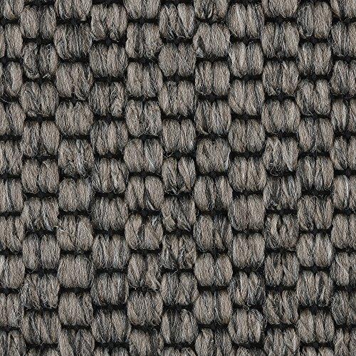 Teppichboden Auslegware | Sisal-Optik Schlinge | 400 und 500 cm Breite | grau anthrazit | Meterware, verschiedene Größen | Größe: 6,5 x 5 m
