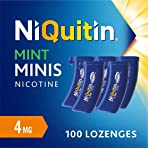 NiQuitin Mini Mint Lozenges, 4 mg, Stop Smoking Aid, 100 Count