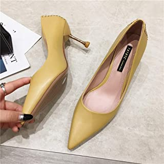 Occupation Fashion 7cm High Heels Pointed Spring Autumn Summer Female Girl Banquet Wild Fine Heel Asakuchi Occupation Jobs Women's Shoes