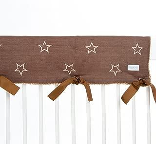 Glenna Jean Carson Convertible Crib Rail Protector, Brown Star, Long
