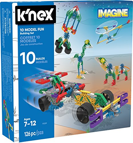 KNEX Imagine - Juego de 10 construcciones para niños a partir de 7 años, juguete educativo de ingeniería, 126 piezas , color/modelo surtido