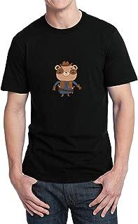 Sheriff Teddy Bear Western_006187 T-Shirt Shirt Tshirt For Men Camiseta para la Hombre Hombres