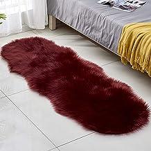 Imitation Wool Carpet Bedroom Bedside Sofa Non-Slip Foot Pad Living Room Bay Window Soft Warm Rugs 60 * 180Cm,6