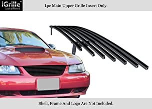 APS Black 304 Stainless Steel Billet Grille Compatible with 1999-2004 Ford Mustang F86009J