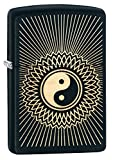 Zippo Personalized Message Engraved on Backside Yin & Yang Indoor Outdoor Windproof Lighter (Ying Yang3)