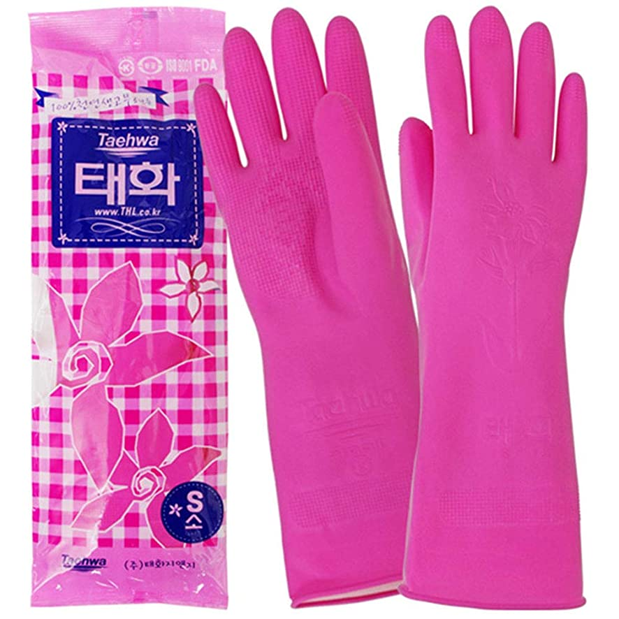 落ち込んでいるレバー神経障害韓国ゴム手袋 (Sサイズ)1セット キッチン用品?雑貨 韓国食品 韓国製