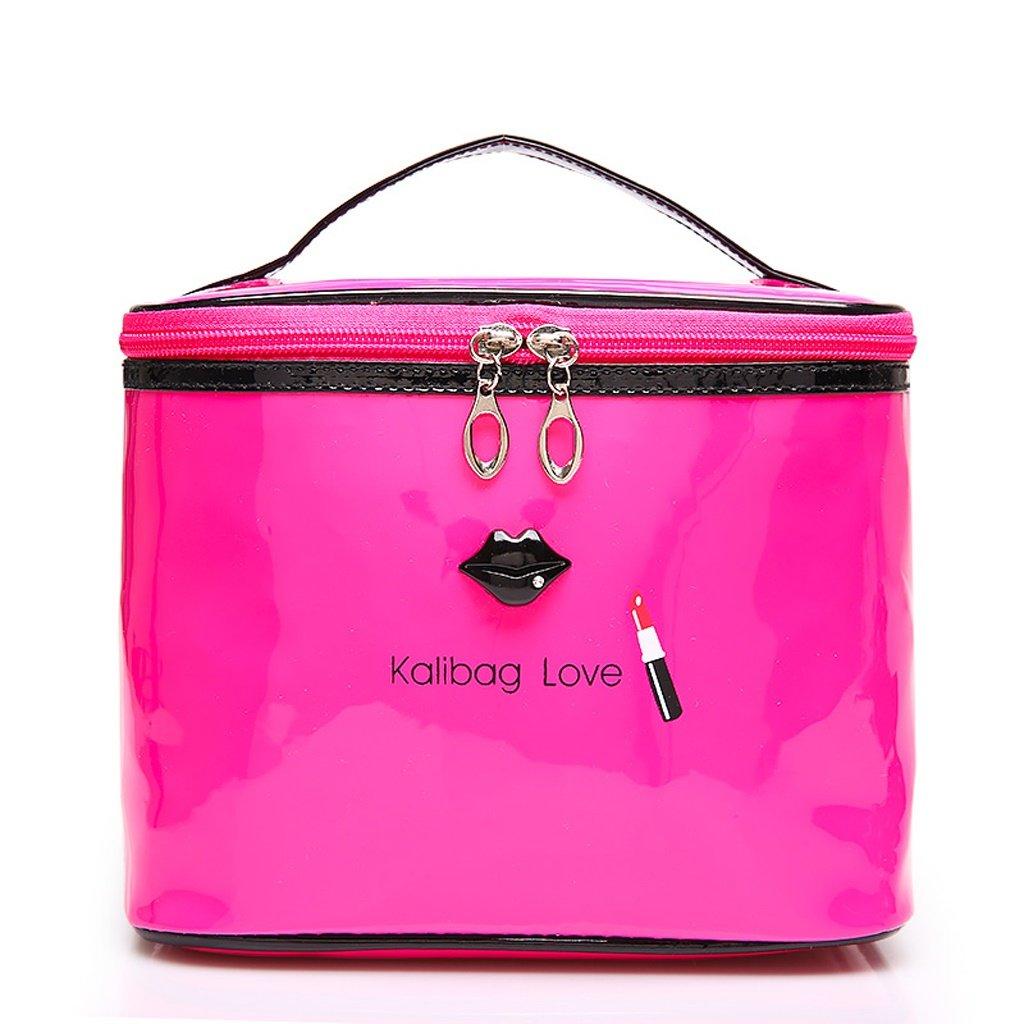 Home Monopoly- Bolsa de cosmética Bolsa de gran capacidad de cosméticos de viaje Mini maquillaje caso Trompeta portátiles portátil (Color : Rosa Roja) : Amazon.es: Hogar