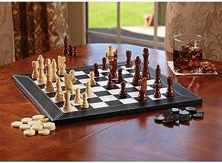 Luckyw Bärbart schackset brädspel portabel barnleksak gåva schack