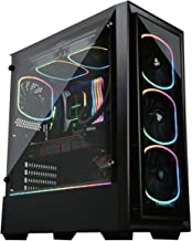 Enermax Starryfort SF30 Addressable RGB ARGB Mid Tower Gaming PC Case Tempered Glass Per-Installed A-RGB Fans (X4), ECA-SF30-M1BB-ARGB