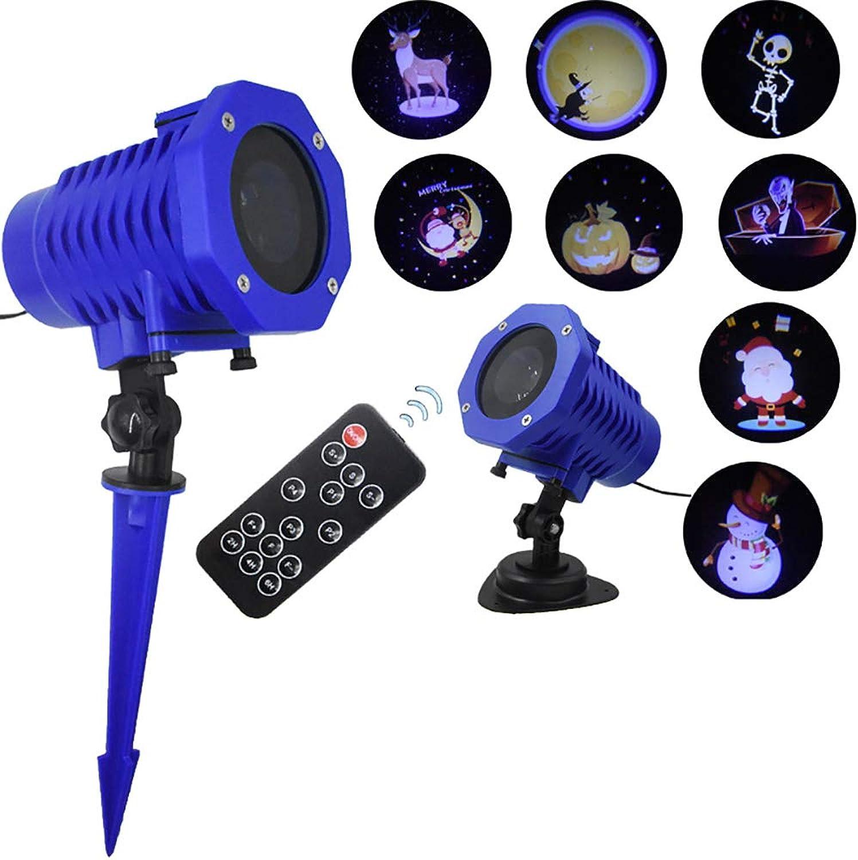 Rziioo LED-Weihnachtslicht-Projektor-Lampe LED dekorativer Rasen-Pin-Lampen-Feiertags-Dekorations-Licht