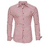 Kayhan Hombre Camisa Slim fit, Oktoberfest Red M