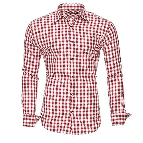 Kayhan Herren Hemd, Oktoberfest Rot XL