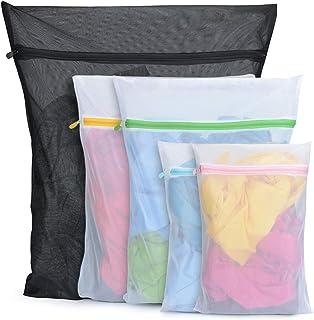 BoxLegend Lot de 5 sacs à linge en maille durable avec fermeture éclair pour linge délicat et chaussettes fines