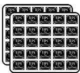Black Tips are Appreciated (Bartender tip jar Accept) Sticker for Scrapbooking, Calendars, Arts, Kids DIY Crafts, Album, Bullet Journals