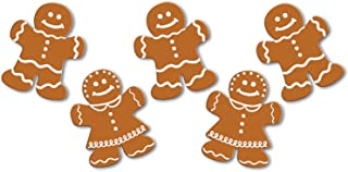 Beistle S22268AZ6, 60 Piece Mini Gingerbread Cutouts, 5''