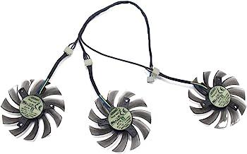75mm Ventilador de Refrigeración de Repuesto Graphics Card Fan para Gigabyte NVIDIA GeForce GTX 760 770 780 670 580 GPU 4pin Power Connector 40x40x40mm Mount Distance