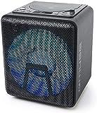 Muse M-1918 DJ Bluetooth Party-Lautsprecher mit Akku, CD-Player und Licht-Effekten (USB, AUX, Mikrofoneingang), 100 Watt, schwarz