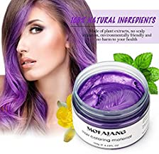 Natural Purple Hair Wax,Efly 4.23 oz-Disposable Purple Ash DIY Hairstyle Colors Hair Wax, for Party Cosplay Easy Cleaning ...