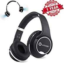 Bluetooth Headphones, Wireless Speakers, Woozik Twist Over Ear 2 in 1 Hybrid Headset with Built-in FM Radio, Micro-SD Card Slot, AUX (Black)