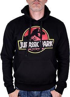 Jurassic Park Sweat à Capuche Noir Logo Classique