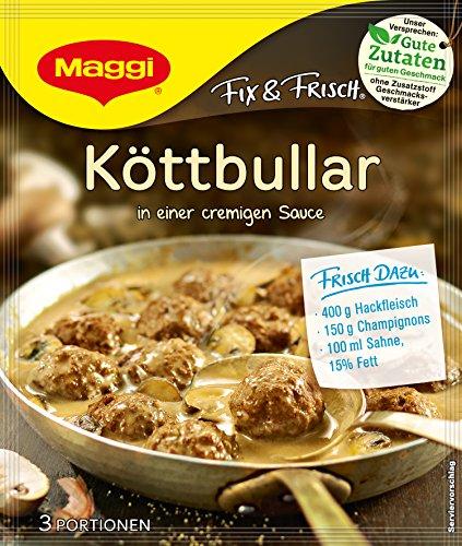 Maggi fix & frisch, Köttbullar, 34 g Beutel, ergibt 3 Portionen, 16er Pack (16 x 34g )