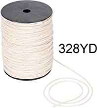 Macrame Cord 3mm x 328yd | 100% Natual Cotton Macrame Rope | 3 Strand Twisted Cotton Cord for Handmade Plant Hanger Wall Hanging Craft Making
