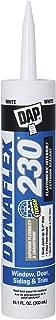 Dap 18275 DYNAFLEX 230 Premium Elastomeric Interior and Exterior Sealant, 10.1 oz, White