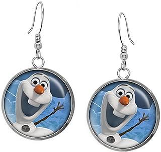 Disney's Frozen Olaf Necklace, Elsa Pendant, Anna Earrings, Princess Elsa Jewelry, Sven Kristoff Geek Geeky Gift, Arendelle Bridesmaid Wedding Present, Snow Queen Nerd Nerdy Gifts