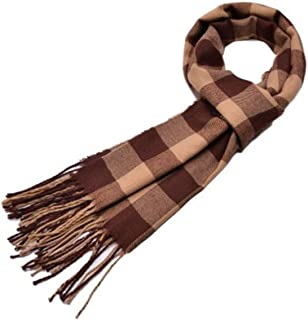 Mansy Mens Classic Cashmere Shawl Winter Warm Long Fringe Striped Tassel Scarf