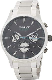 ساعة يد ريدجفيلد بمينا رمادي وسوار من الستانلس ستيل للرجال من غانت - G Gww005021
