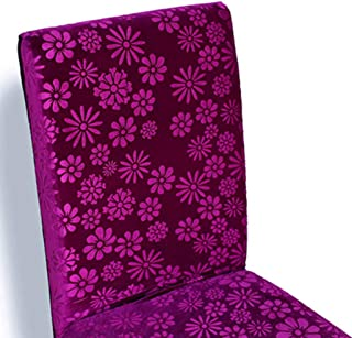 ANOSORA Dining Chair Cover Spandex Embossed Fabric One Piece High Back Seat Low Back Chairs Slipcovers