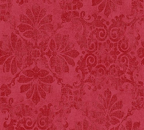 A.S. Création Vliestapete Memory Tapete in Vintage Optik floral 10,05 m x 0,53 m metallic rot Made in Germany 329873 32987-3