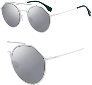 Fendi FRSWG Round Sunglasses for Women - Grey Lens