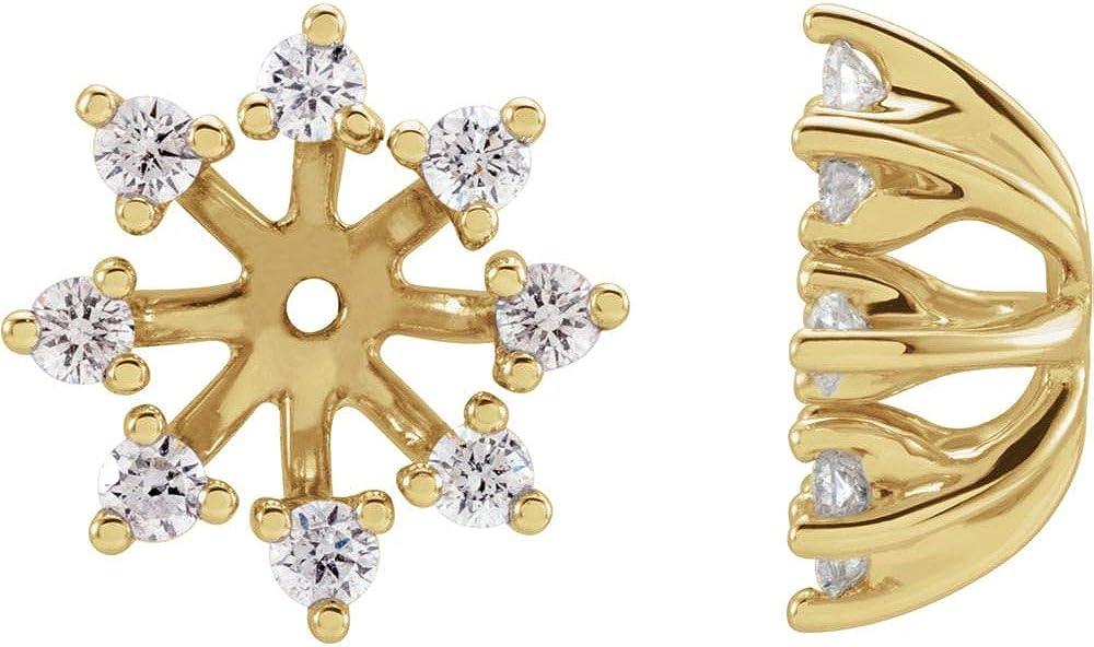 FB Jewels 14K Yellow Gold 1/2 CTW Diamond Earrings Jackets