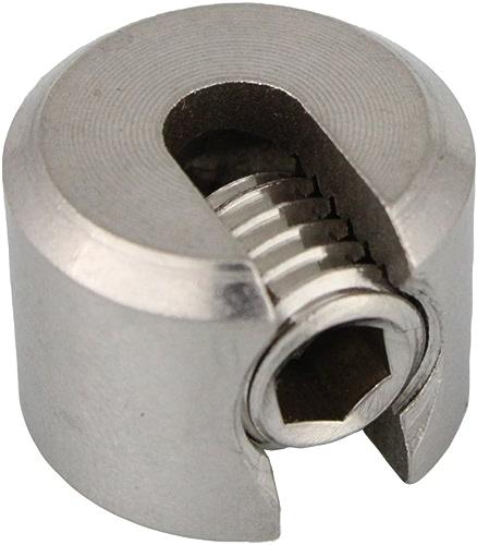 Lot de 15Butoir de serrage 1pièces DS = 5mm M10 Inox A4 AISI 316