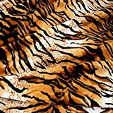 Kurzhaar Kunstfell als Meterware   tolle Tierfell Imitat Stoffe (Tiger)