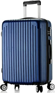GLJJQMY ABS Material Password Trolley Luggage Wear-Resistant Anti-Drop Rotating Wheel Luggage 20/24/26/28 Inches Trolley case (Color : Blue, Size : 26 inch)