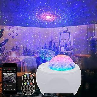 3 en 1 Projecteur de Ciel étoilé Projecteur Galaxie Nova Lampe LED Veilleuse pour Enfants avec Télécommande Haut-Parleur B...