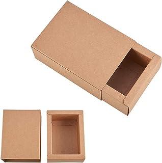 95849549d BENECREAT 20 Pack Caja de Cartón Kraft Cajas de Regalo para Fiesta Superior  Envase de Joyería
