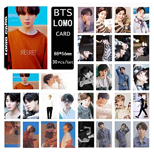 Yovvin 30 Stück BTS Fotokarten, KPOP BTS/EXO / GOT7 / NCT/BIG BANG/TWICE/SEVENTEEN/WANNA ONE Photocard, Sammlung und Beste Geschenk für The ARMY und The Fans (Jimin)