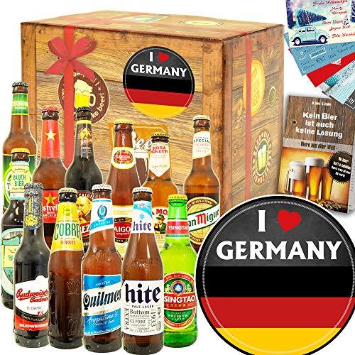 I love Germany/Deutschland Geschenk / 12 Biersorten aus der Welt
