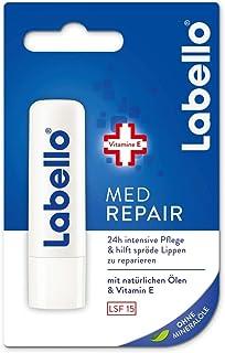 Labello Med Repair - 4,8 g, balsamo per le labbra con crema solare (SPF 15) e vitamina E per la protezione intensiva delle...