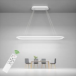 ANTEN Suspension Luminaire Anneau Moderne LED 45W | Lustre Dimmable 3000-6000K| Hauteur d'Installation Réglable | Avec Tél...