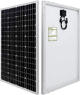 HQST 100 Watt 12 Volt Monocrystalline Solar Panel (New Edition)